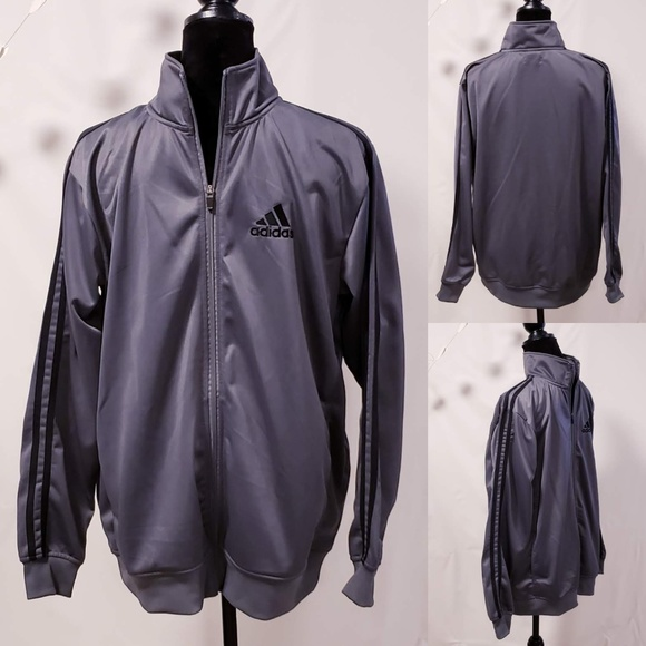 adidas Other - Adidas Gray track suit jacket Men's size L🦅